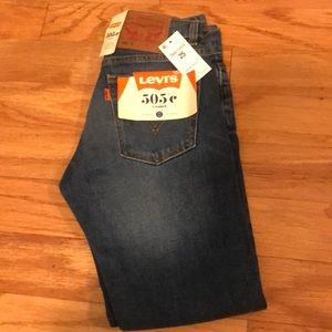 Levi's 505C Cropped Slim Jeans size 25